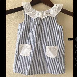 Janie & Jack striped cotton sleeveless dress